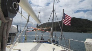 aft photo shows davits