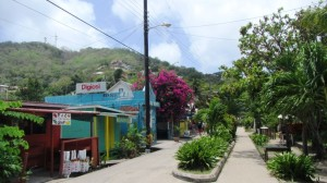 Bequia waterfront street