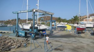 hauling out at Spice Island Marine